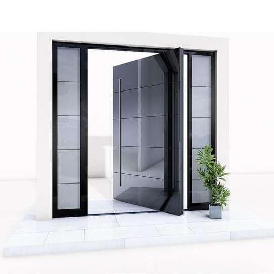 WDMA Aluminum Pivot Front Door