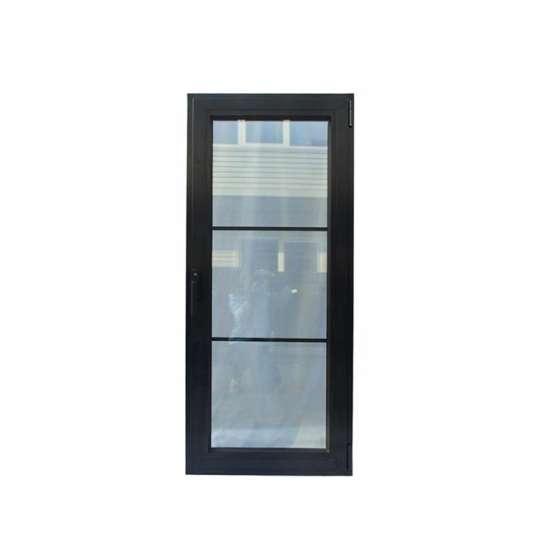 WDMA Modern Interior Office Powder Coated Aluminium Glass Entry Door Design