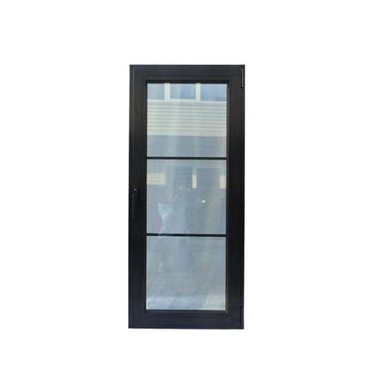 China WDMA Modern Interior Office Powder Coated Aluminium Glass Entry Door Design
