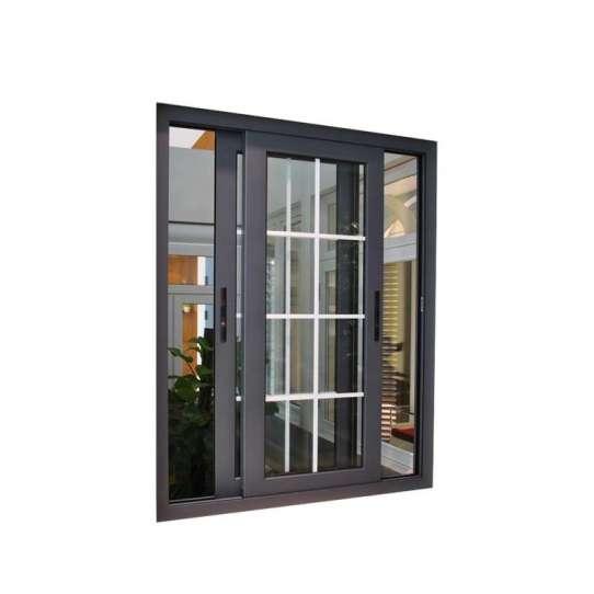 WDMA aluminium sliding window with iron grill Aluminum Sliding Window