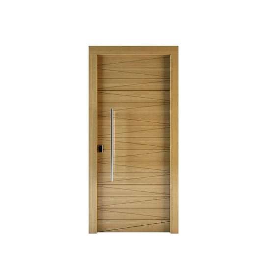 WDMA New Design Flat Teak Wood Main Door Designs In Uae