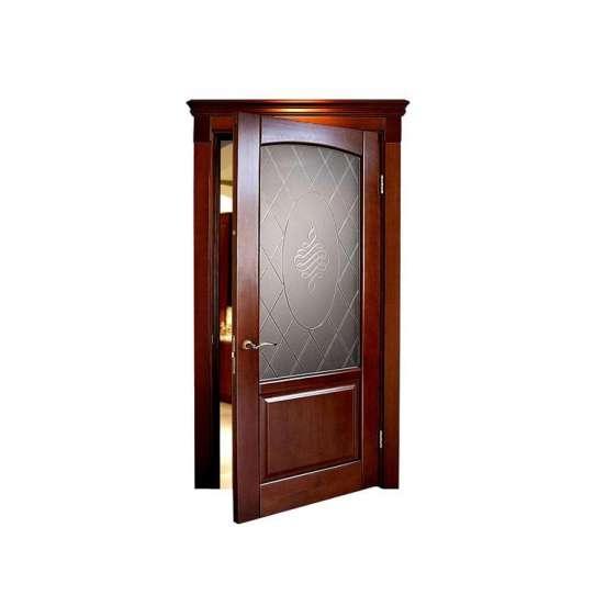 China WDMA New Design Flat Teak Wood Main Door Designs In Uae