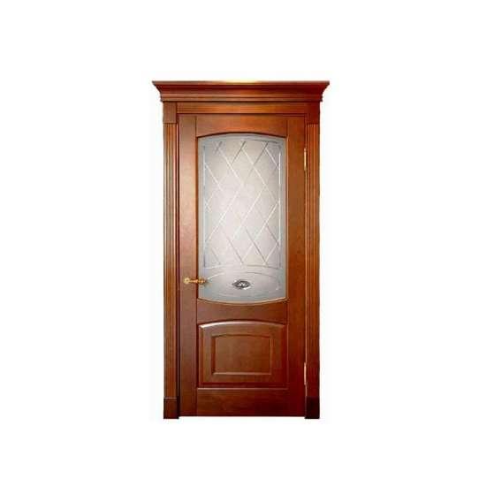 China WDMA flat teak wood main door designs