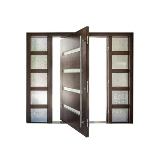 WDMA New Design Giant Solid wooden Pivot Entry Home Doors
