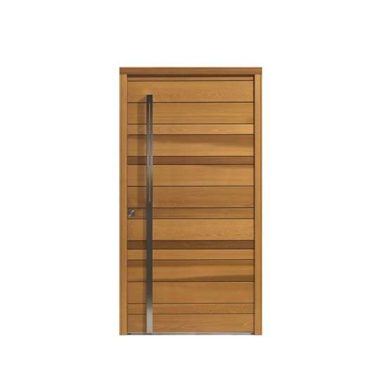 China WDMA New Design Giant Solid wooden Pivot Entry Home Doors