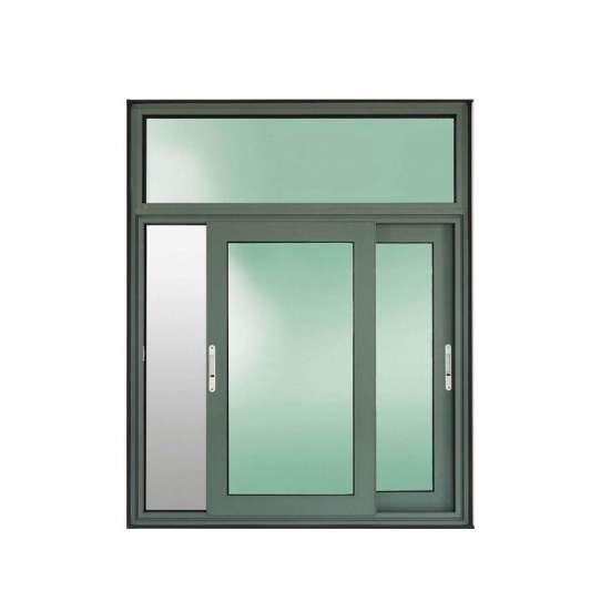 China WDMA New Products Commercial Slider Windows Double Glazing Aluminum Glass Sliding Window