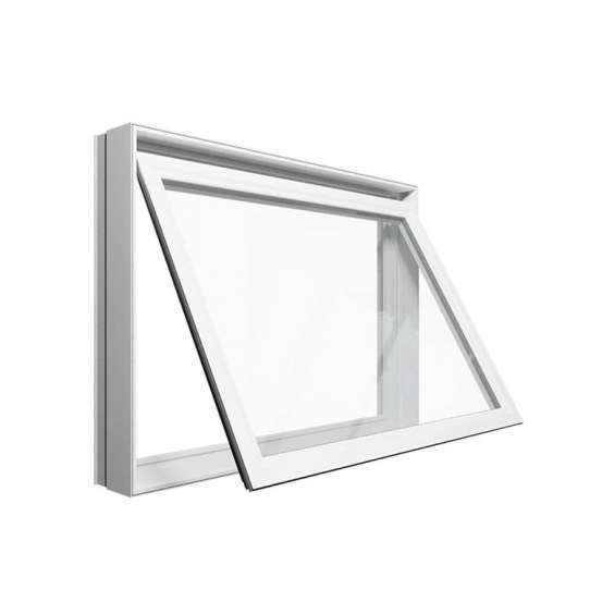 WDMA New Products Eu Market Ce Certified High Energy Saving Frosted Glass Aluminum Awning Window For Bathroom