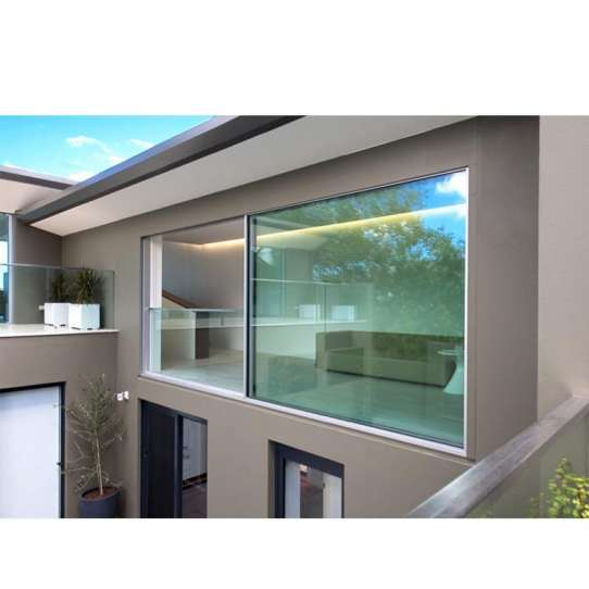 WDMA Top quality aluminum arched top windows with fly screen