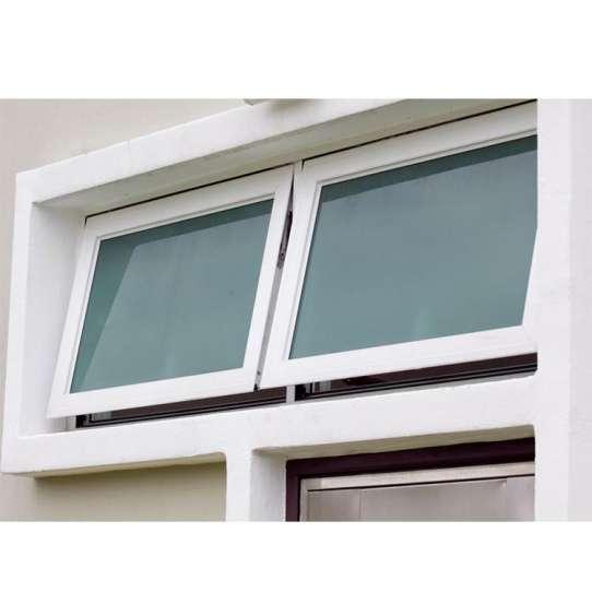 WDMA tempered single glass awning window Aluminum Awning Window