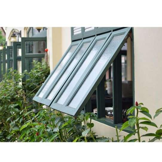 China WDMA tempered single glass awning window
