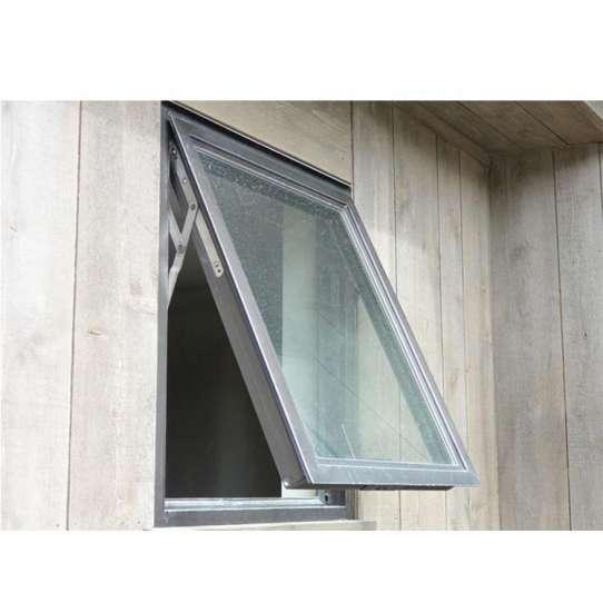 China WDMA tempered single glass awning window Aluminum Awning Window