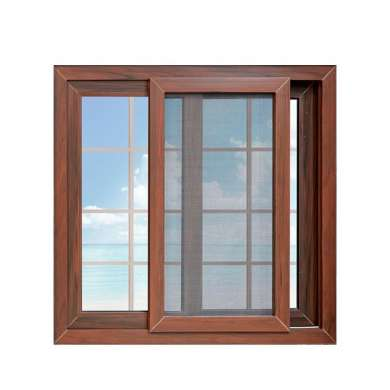 WDMA New Products Modern House Wooden Grain Sliding Windows