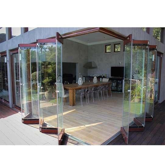 WDMA New Style Frameless Folding Glass Doors
