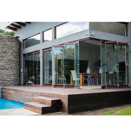 China WDMA New Style Frameless Folding Glass Doors