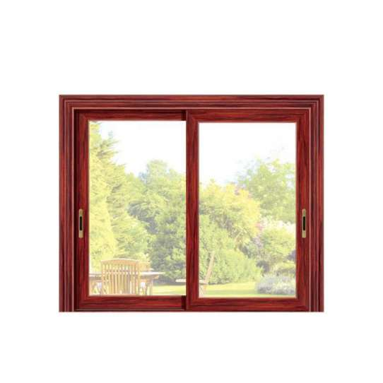 China WDMA Newest Wood Colour Aluminum Profile Sliding Window Grill Design Track System For Sales