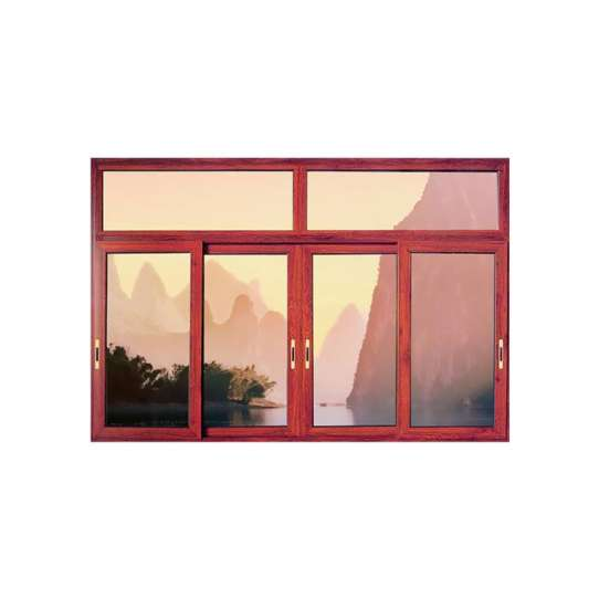 China WDMA wood colour sliding window grill design Aluminum Sliding Window