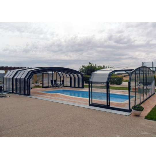 China WDMA Non-thermal Break Outdoor Glass House For Pool Solarium Sun Room