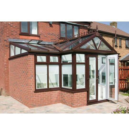 China WDMA Non-thermal Break Outdoor Glass House For Pool Solarium Sun Room