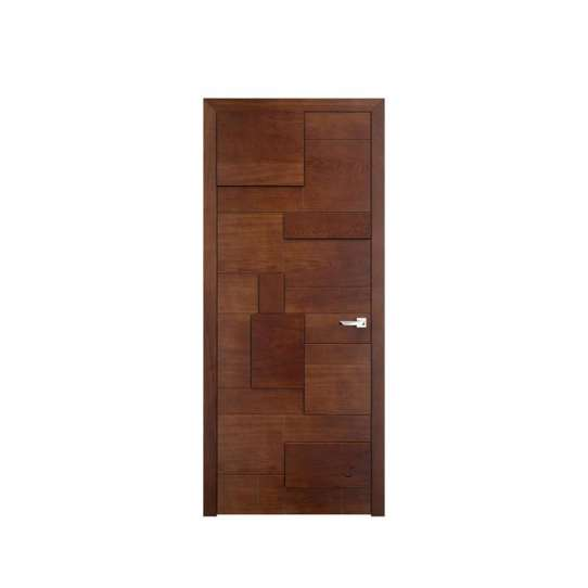 China WDMA Office White Wood Door with Glass MDF Door