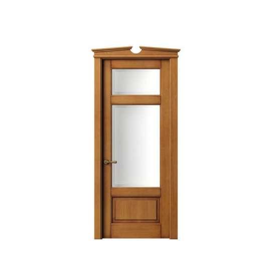 China WDMA office wood door with glass Wooden doors