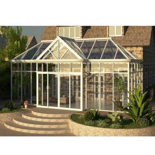 China WDMA Outdoor Lowes Prefabricated Aluminium Frame Patio Glass Garden Room Enclosure Sunroom Conservatory