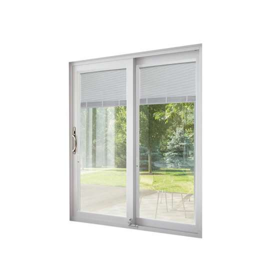 WDMA Painting Hanging Aluminium Half Shatterproof Glass Sliding Door Made In China