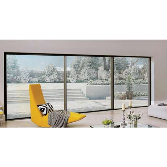 WDMA half glass aluminium door