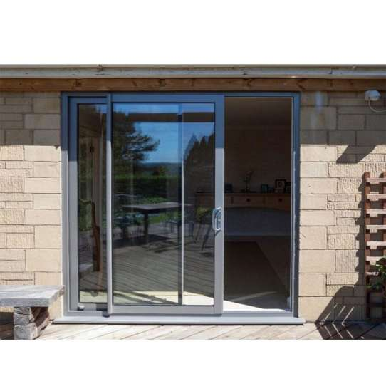 WDMA half glass aluminium door Aluminum Sliding Doors