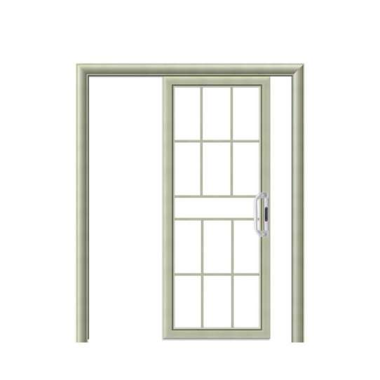 China WDMA Painting Hanging Aluminium Half Shatterproof Glass Sliding Door Made In China