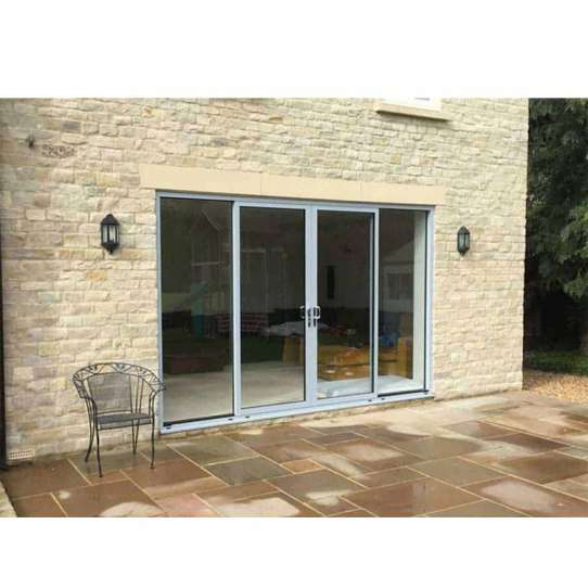 China WDMA half glass aluminium door