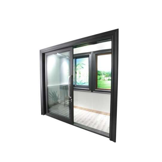 China WDMA half glass aluminium door Aluminum Sliding Doors