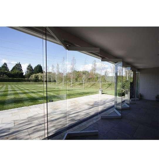 China WDMA Aluminium Frameless Glass Folding Door