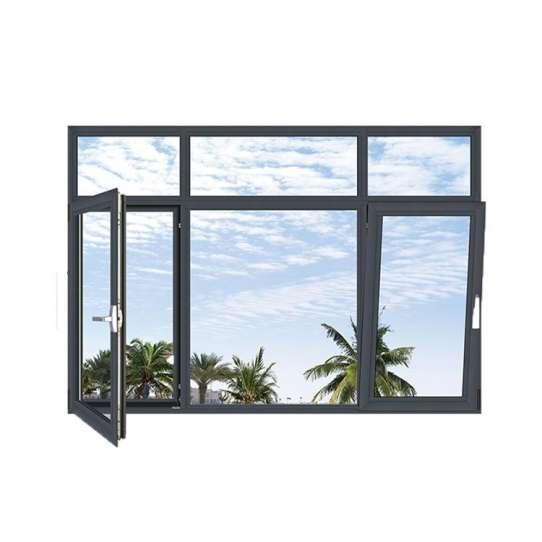 China WDMA aluminium tilt and turn window Aluminum Casement Window