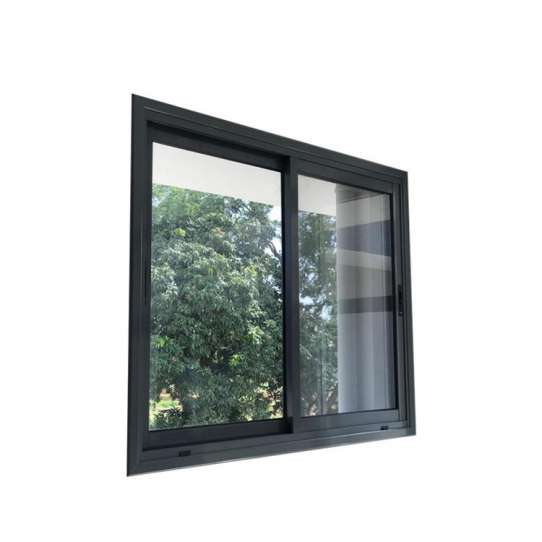 China WDMA Powder Coating Aluminium Frame 3 Tracks Sliding Glass Window With Grill Design