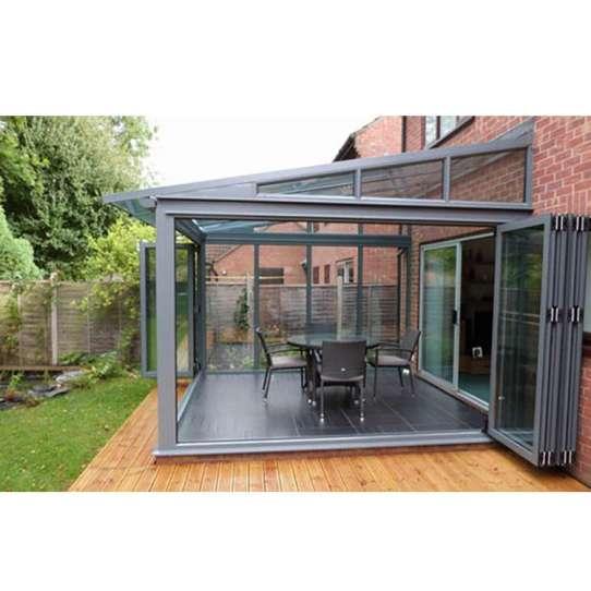 WDMA Prefab Lean To Sunroom Conservatory Greenhouse Sun Room Sunroom Glass House Aluminium