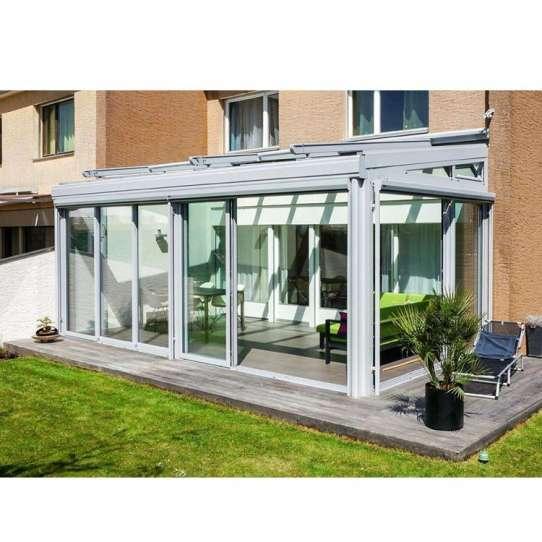 China WDMA Prefab Lean To Sunroom Conservatory Greenhouse Sun Room Sunroom Glass House Aluminium