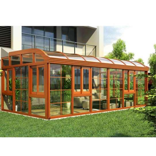 China WDMA curved glass sunroom