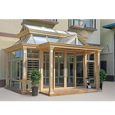 WDMA Prefabricated Veranda Glass Sunrooms Conservatory For Sale