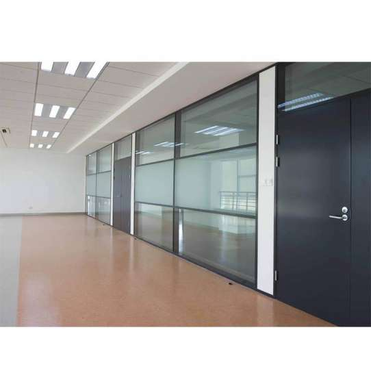 WDMA Price Of Aluminium Office Partition Glass Wall
