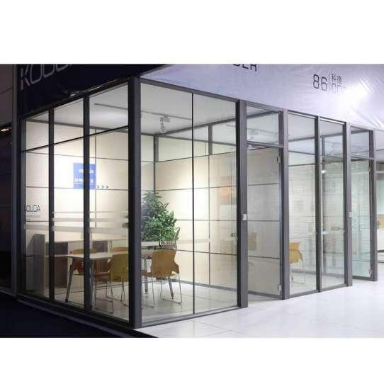 China WDMA Price Of Aluminium Office Partition Glass Wall