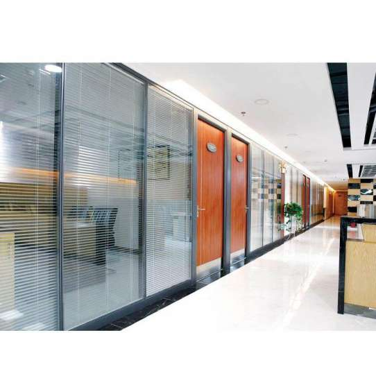 China WDMA office partition glass wall Aluminum office partition