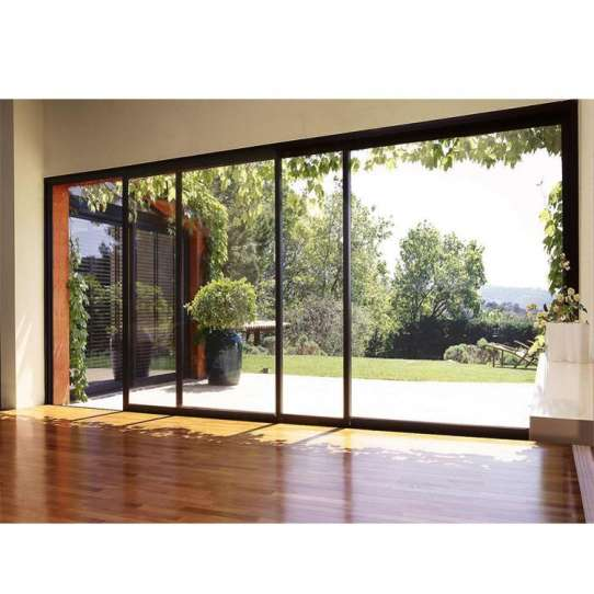 China WDMA Price Of Outside Push To Open Aluminium Panoramic Performance Overhang Parking Sliding Door System Mechanism