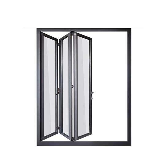 WDMA Puertana Double Tempered Glass Aluminium Balcony Folding Door