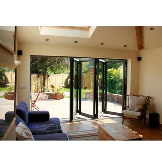 China WDMA Puertana Double Tempered Glass Aluminium Balcony Folding Door