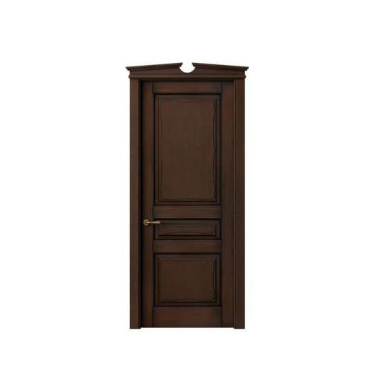 WDMA PVC Composite Prehung Indoor Wooden House Door With Window Frame And Vent For Home