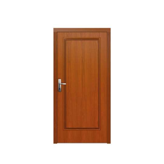 China WDMA PVC Composite Prehung Indoor Wooden House Door With Window Frame And Vent For Home