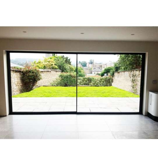 WDMA Residential New Color Coating Power Operated Automatic Auto Soft Close Sensor Multi Sliding Glass Door Design From Guangzhou