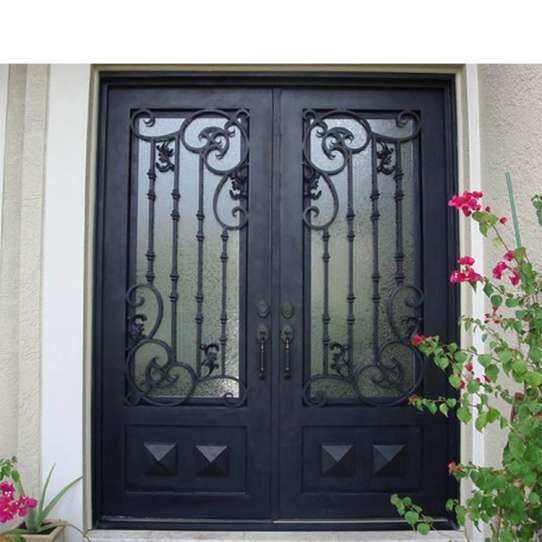 WDMA sliding door iron grill design Steel Door Wrought Iron Door