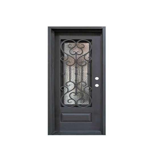 China WDMA sliding door iron grill design Steel Door Wrought Iron Door