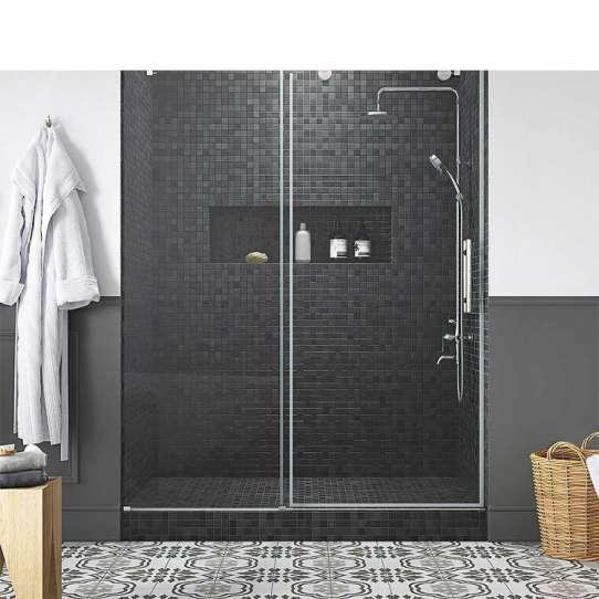 China WDMA Shandong 3 Sided Panel Frameless Glass Sliding Shower Enclosureshower Doorshower Cabin